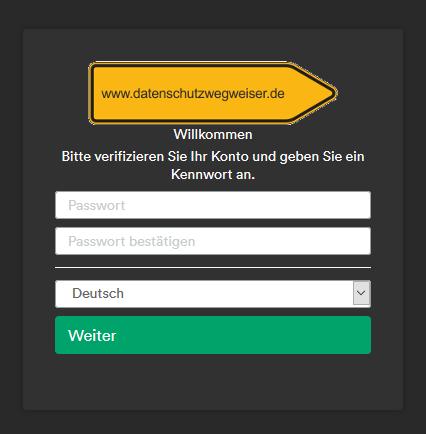 Passwortvergabe für das Ticket-System